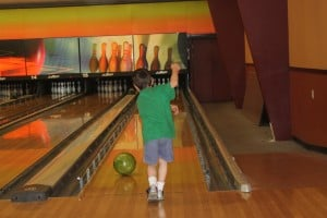 Going bowling. Rest and recreation help productivity.
