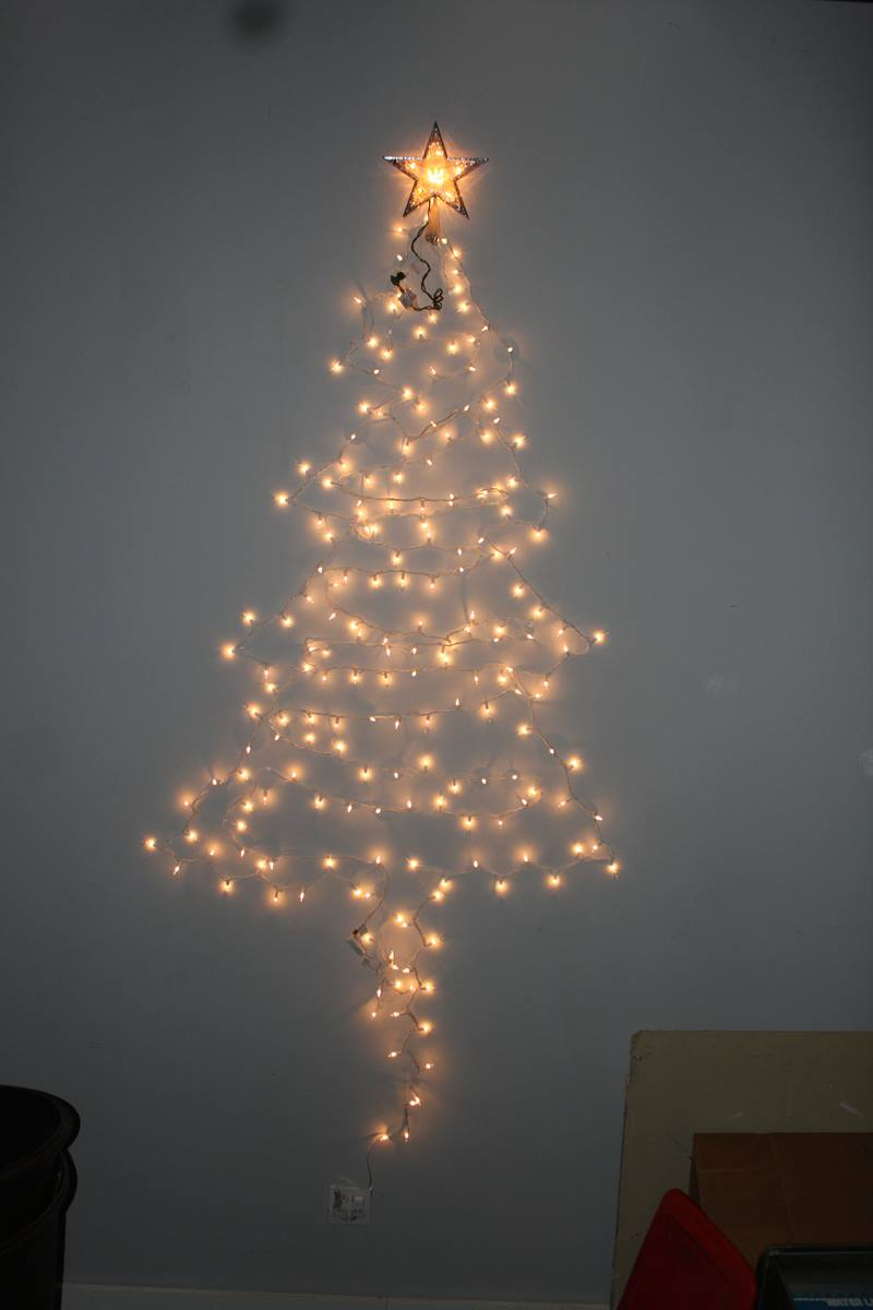Wall Christmas Tree Made From Lights : Make a Christmas tree - Harshman Services: Tame Your Writing Dragon