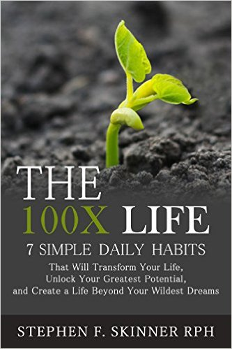 Photo of Stephen Skinner's book The 100X Life, edited by Jennifer Harshman