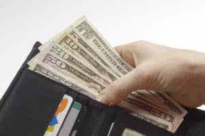 This wallet has cash. Closing credit card accounts is not the only option.