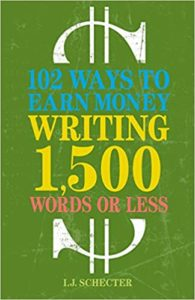recommended books list contains this image of the cover of 102 Ways to Earn Money Writing 1,500 Words or Less