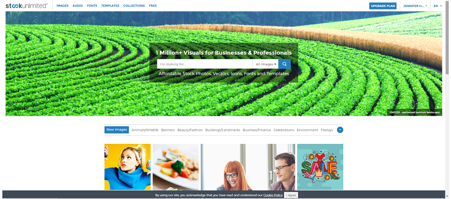 StockUnlimited home page. This site is a great source of images for use in blog posts.