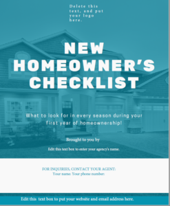 New homeowner checklist image of cover